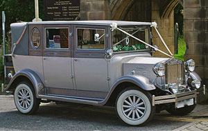 Silver Imperial Wedding Car