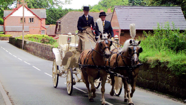Travel to your wedding in bygone style