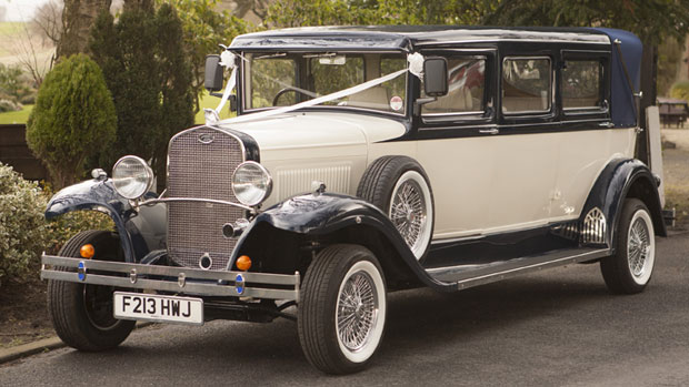 White Bramwith Wedding Car